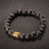 Customized & DIY Women Men Prayer Buddha Lava Stone Onyx Bead Bracelet Jewelry Vintage Love Beaded Bracelets - onlinejewelleryshopaus