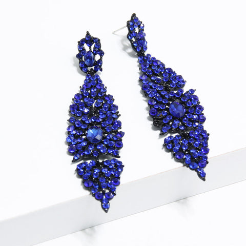 Vintage Long Earrings with Blue Stone Fashion Chandelier Earrings Big Long Blue Earrings for Women Jewelry Gift 2016 New ersh68 - onlinejewelleryshopaus