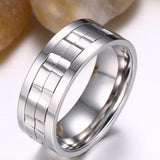 Rotatable gold rings for men Titanium Stainless Steel Man Rings - onlinejewelleryshopaus