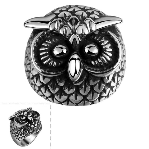 Free Shipping Lose Money Promotions! punk style men rings Owl shape anel masculino men fashion jewelry MAYAR106 - onlinejewelleryshopaus