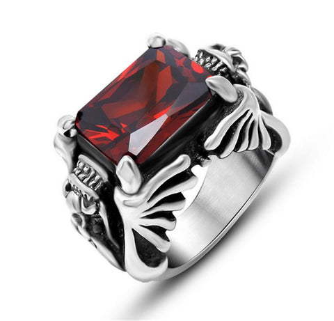 2016 New US Size 7-12 Punk Rock Stainless Steel Mens Biker Rings Vintage Gothic Jewelry Silver Color Dragon    Ring Men - onlinejewelleryshopaus