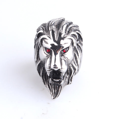 Domineering casting Lion head 316L Stainless Steel finger rings for men women  wholesale - onlinejewelleryshopaus