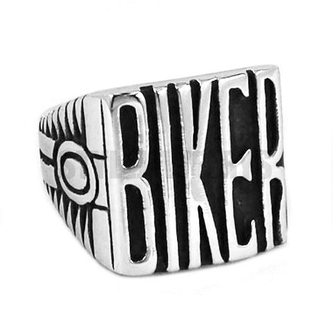Vintage Engine BIKER Motorcycles Biker Ring Stainless Steel Jewelry Carve Words Motor Biker Men Ring Wholesale SWR0441A - onlinejewelleryshopaus