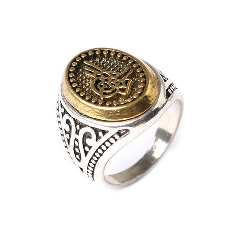 Size 7-10 Vintage Punk Retro Cool Men Rings New Style Fashion Gold Color Cheap Silver Plated Rings Jewelry - onlinejewelleryshopaus