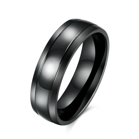 6mm Black Men Tungsten Carbide Ring Wedding Engagement Band Promise Rings Comfort Fit High Polish and Matte Finish CR60 Jewelry - onlinejewelleryshopaus