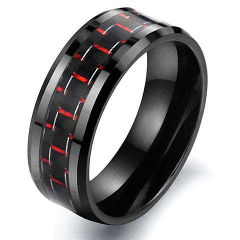 New fashion punk jewelry Best gift carbon fiber Ceramic Men rings black Anello Anneau Anel Joya Schmuck Full size Rings - onlinejewelleryshopaus