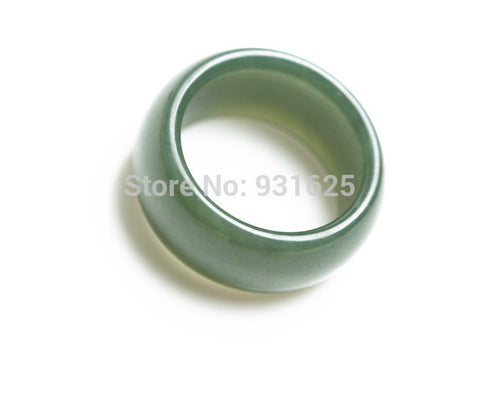 Wonderful Man's 100% Natural Real Green Jade Ring Lucky Rings 17-20mm Inner Diameter free shipping - onlinejewelleryshopaus