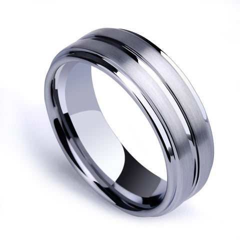 New Arrival Man's Fashion Jewelry 5mm/7mm Tungsten Carbide Rings Brushed Finishing Scratch Proof Size 6-11 Free Shipping - onlinejewelleryshopaus