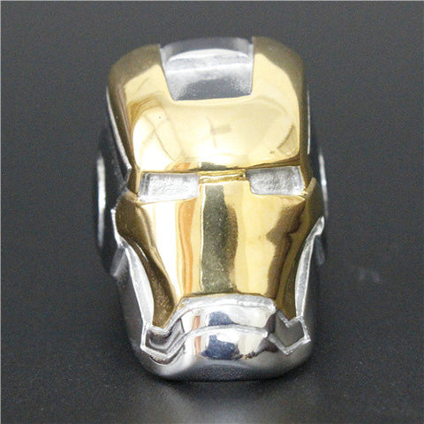 Newest Punk Golden Silver Robert Iron Man Ring 316L Stainless Steel Cool Man Hot Popular Ameria Hero Man Ring - onlinejewelleryshopaus