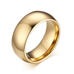 Gold Plated Wedding Band for Men Quality 857 Tungsten Carbide Wedding Jewelry Ring Fashion 8mm Width Engagement Ring - onlinejewelleryshopaus