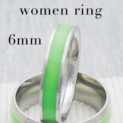 Original Luminous Ring Glow In The Dark Green Fluorescent Glowing Fashion Silver Men Rings For Women USA Size 6 7 8 9 10 11 12 - onlinejewelleryshopaus