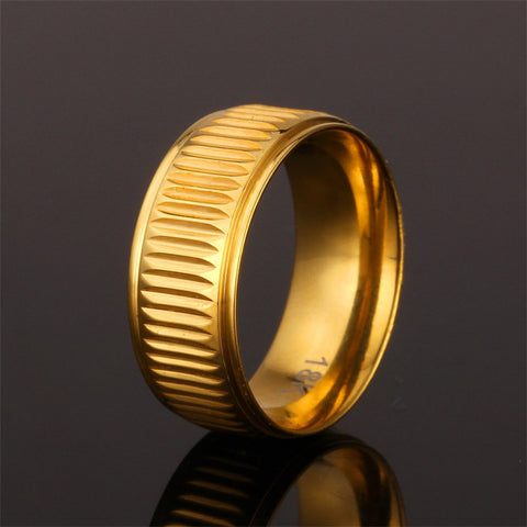 Ring For Men Jewelry Vintage Trendy Classic Jewelry With Gift Box Gold Plated Women/Men Ring R446 - onlinejewelleryshopaus