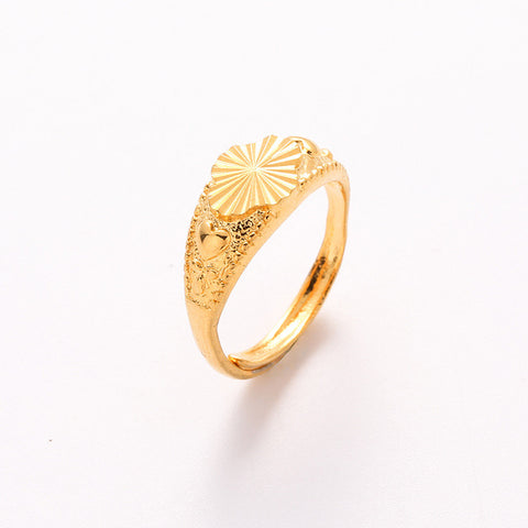 18 Designs Available Gold Plated Rose Heart Butterfly Designs Adjustable Finger Rings for Women Wedding Women Ring Jewelry - onlinejewelleryshopaus