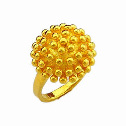 Fashion Rural Style Women Rings 24 K Vacuum Plated Hot Sale Summer Jewelry  Delicate Enthusiastic Flower Finger Ring JJR007 - onlinejewelleryshopaus