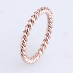 Rose Gold Hemp flowers 316L Stainless Steel finger rings for women wholesale - onlinejewelleryshopaus