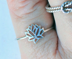 Fashion lotus rings, hollow out lotus rings for women wholesale free shipping - onlinejewelleryshopaus