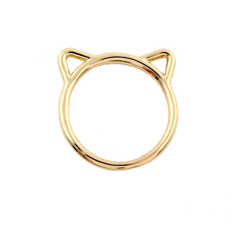 10PCS -R090 New 2017 Fashion Cute Animal Ring Hammered Kitty Cat Ear Rings for Women Girl Jewelry Gift - onlinejewelleryshopaus