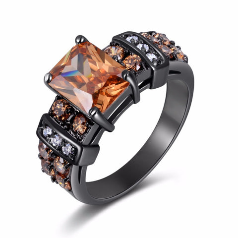 2016 Fashion Jewelry women ring Rare Cz black gold plated anniversary Ring Gift R003 - onlinejewelleryshopaus