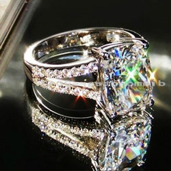 Size 5-10 Hot sale Unique Round Jewelry 10KT white gold filled AAA Cubic Zirconia Gem Wedding women Ring gift choucong - onlinejewelleryshopaus