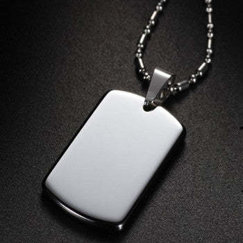 1pcs /lot, Soldiers pendant necklace Dog Tag necklaces Titanium 316L Stainless Steel - onlinejewelleryshopaus