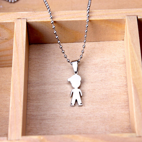 2015 New Products Stainless Children Jewelry Young Boy Pendant Necklace Latest Design Nice Present - onlinejewelleryshopaus
