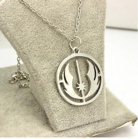 12pcs/ movie jewelry antique silver plated Star Wars Jedi Order charm pendant Necklace - onlinejewelleryshopaus