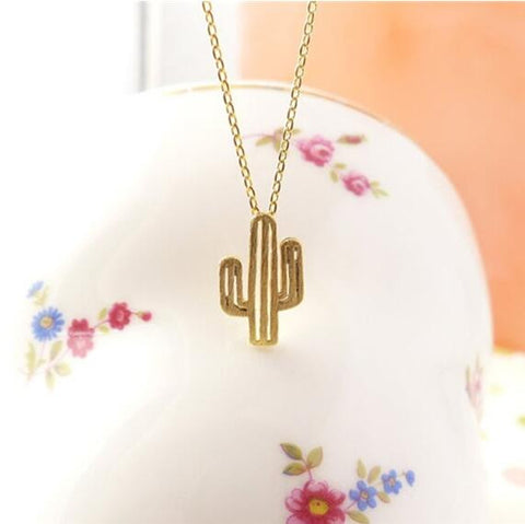 10PCS -N211 New 2017 Summer Necklace Minimalist Desert Prickly Pear Cactus Pendant Necklaces for Women Party Jewelry Gift - onlinejewelleryshopaus
