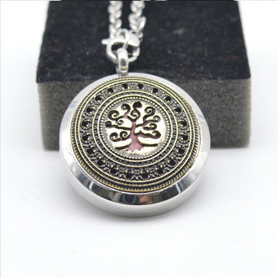 10pcs Stainless Steel Lockets Necklace Life Tree Aroma Jewelry Pendant Screw Essential Oil Diffusing Lockets Holiday Gift BXG-20 - onlinejewelleryshopaus