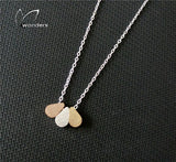 10pcs/lot 2016 Vintage Jewelry Silver/Rose Gold Chain 3 Teardrop Stainless Steel Pendant Necklace for Women Free Shipping N060 - onlinejewelleryshopaus