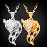 Pendants  Necklaces For Women Lovely Fox yellow Gold Plated Jewelry Fashion New Austrian Rhinestone Pendant P969 - onlinejewelleryshopaus