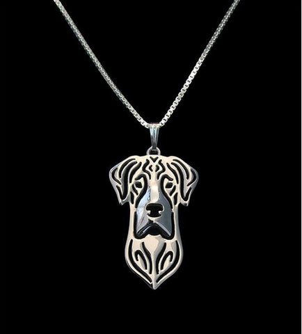 Newest Handmade Natural Eared Great Dane Pendant Necklace Dog Jewelry Pet Lovers Gift Idea-12pcs/lot(6 Colors Free Choice) - onlinejewelleryshopaus