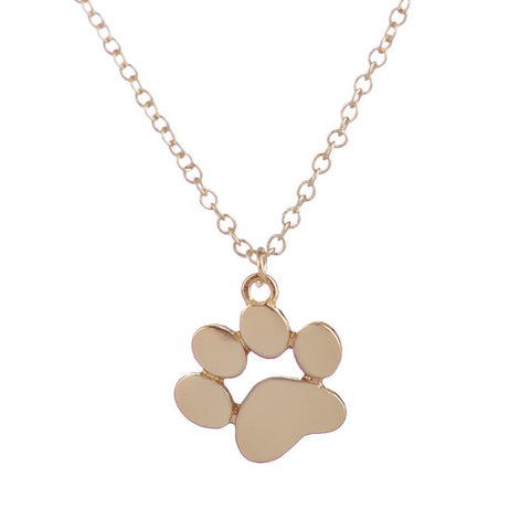 30pcs/lot 2016 New Arrival Necklace Wholesale Tassut Cat Dog Paw Print Pendant Necklace for Women in Gold XL191 - onlinejewelleryshopaus