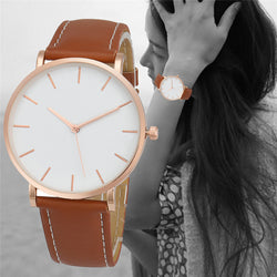 Brand new Fashion Simple Style quartz Women watch casual Leather Ladies watches Clock Reloj mujeres 2016 #10 Gift 1pc - onlinejewelleryshopaus