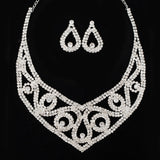 Wedding Necklace/Earring Elegant Party Prom Formal Occasion Wear Free ping Round Bridal Jewelry Classic NecklaceY0015-0028 - onlinejewelleryshopaus