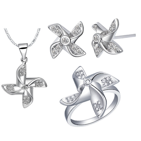Bridal Jewellery Sets With Simulated Diamond Accessories Wedding Jewelry Sets Collares Mujer Joyas De Plata 925 Ulove T442 - onlinejewelleryshopaus