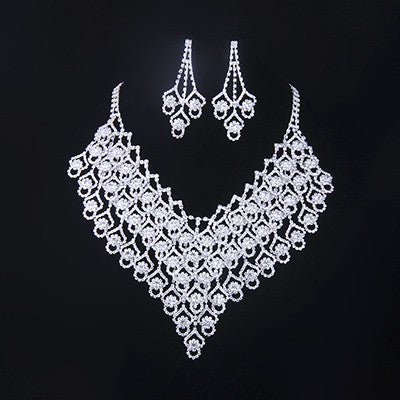 2016 Austrian Crystal Jewelry Sets For Women Fashion Zinc Alloy Jewellery Bridal Wedding Necklace Earrings Jewelry Sets  N114 - onlinejewelleryshopaus