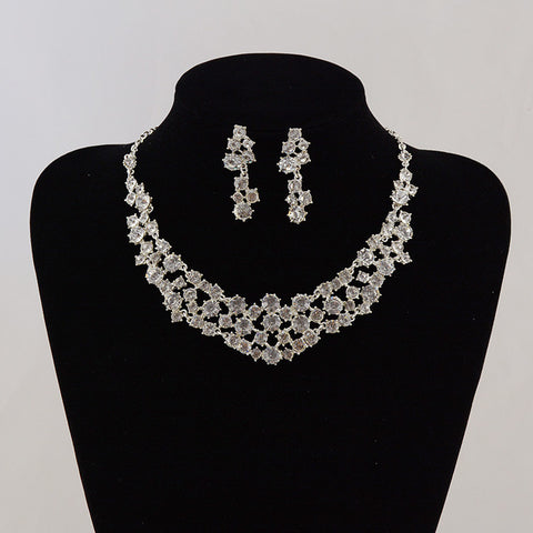 Bridal Jewelry Sets Wedding necklace and earring Jewelry Womens Jewellery Vintage Crystal Pendant Accessories Fashion - onlinejewelleryshopaus