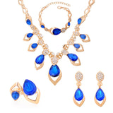Hot  Austrian Crystal Jewelry Sets For Women Gift Fashion Jewellery & Jewerly  Gold Plated Bridal Wedding Jewelry Sets - onlinejewelleryshopaus