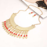 2016 New Fashion Bohemian Tassel Choker  Necklace Jewelry Set Vintage Gypsy Ethnic Women Maxi Necklace Jewellery Bridal Colar - onlinejewelleryshopaus