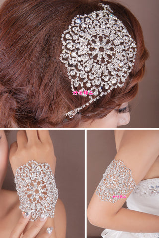 crystal headdress hair accessories wedding epaulette arm chain jewelry accessories bridal jewelry - onlinejewelleryshopaus