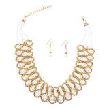 Fashion Wedding Bridal Jewelry Sets Crystal Rhinestones Pendant Necklace Earrings Set High Quailty Free Shipping - onlinejewelleryshopaus