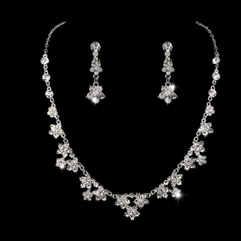 Bridal Jewelry Set luxurious atmosphere wild leaves and flowers crystal necklace earrings sets - onlinejewelleryshopaus