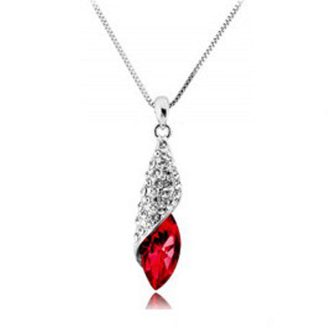 Wholesale BISM Bridal Jewellery Set Red Crystal Teardrop Earrings Necklace & Bracelet - onlinejewelleryshopaus