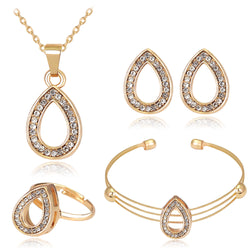 African Beads Jewelry Set Wedding Bridal Jewelry Sets Tiaras And Crowns Gold Plated Earrings Ring Hairclip Jewelry Set For Women - onlinejewelleryshopaus