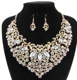 2017 New Wedding Jewelry Gold&Silver Plated Full Crystal Rhinestone Necklace Set Classic African Bridal Jewelry Sets XN-G39 - onlinejewelleryshopaus