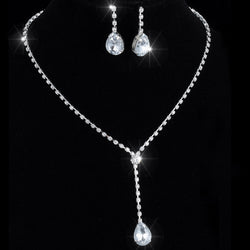Bridal wedding jewelry set  crystal rhinestone Bridal Jewelry Women's Necklaces earrings  african jewelry set - onlinejewelleryshopaus