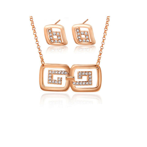 2015 Newest jewelry sets necklace earrings bridal jewelry sets crystal Imitation Gold Filled jewelry findings crystal jewelry - onlinejewelleryshopaus