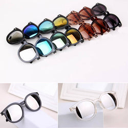 Multicolour Mercury Mirror Glasses Men Sunglasses Women Male Female Coating Sunglass Gold Round - onlinejewelleryshopaus