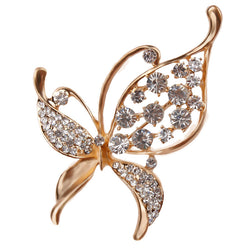Crystal Rhinestones Assorted Butterfly Brooch Pins Fashion Costume Jewelry for Women or Girls - onlinejewelleryshopaus
