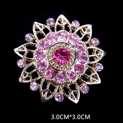Factory Direct Sale Assorted Gold Plated Color Crystal Rhinestones Flower Fashion Brooch Pins for Women Assorted - onlinejewelleryshopaus